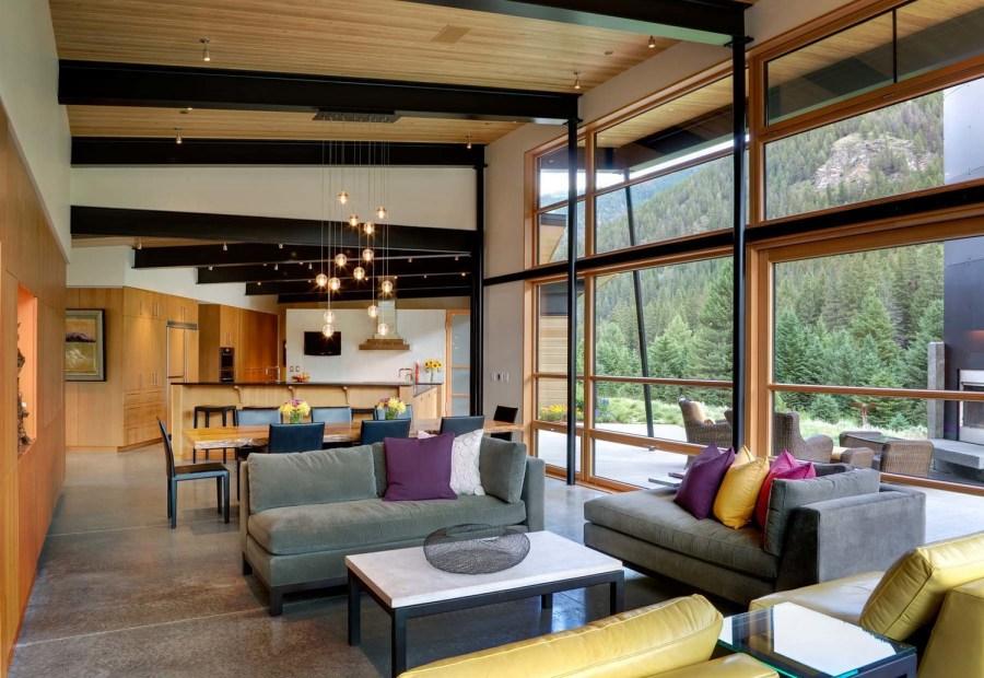 التصميم الداخلي لمنزل ريفي